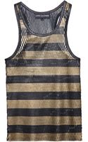 Love Leather Perforated Leather Tank Top - Lyst