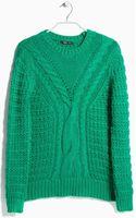Mango Chunky Knit Sweater - Lyst