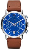 Marc By Marc Jacobs Mens Chronograph Fergus Camel Leather Strap Watch 42mm - Lyst