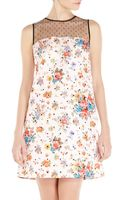 RED Valentino Floral Print Shift Dress - Lyst