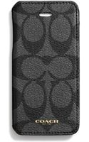 Coach Bleecker Iphone 5 Case with Stand In Signature Coated Canvas - Lyst