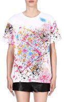 Eleven Paris Splatter-print Cotton T-shirt - Lyst
