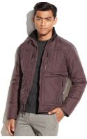 Kenneth Cole Quilted Nylon Moto Jacket - Lyst