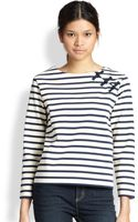 Marc By Marc Jacobs Jacquelyn Striped Cotton Tee - Lyst