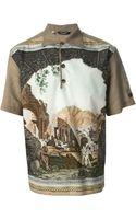 Dolce & Gabbana Scenic Print Polo Shirt - Lyst