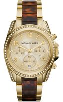 Michael Kors Womens Chronograph Blair Tortoise and Gold-tone Stainless Steel Bracelet Watch 39mm - Lyst