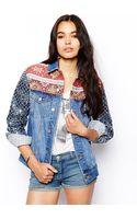 Asos Boyfriend Jacket with Embellished Sleeve - Lyst