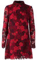 Valentino Floral Macrame Dress - Lyst