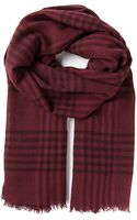 Brunello Cucinelli Checked Scarf - Lyst