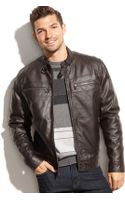 Michael Kors Michael Faux Leather Moto Jacket - Lyst