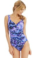 Miraclesuit Gandolph One Piece Swimsuit - Lyst