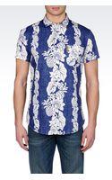 Armani Jeans Poplin Shirt with Print - Lyst