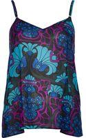 River Island Purple Deco Floral Print Cami Top - Lyst