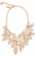 Oscar de la Renta Multi Leaf Bib Necklace - Lyst