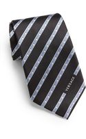 Versace Dotted Striped Silk Tie - Lyst