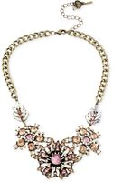 Betsey Johnson Crystal Flower Frontal Necklace - Lyst