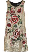 Needle & Thread Sequined Mini Dress - Lyst