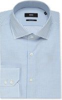 Hugo Boss Gerald Graph Check Single Cuff Cotton Shirt - Lyst