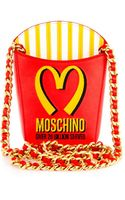 Moschino French Fries Leather Shoulder Bag - Lyst