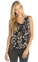 Rebecca Taylor Silk Floral Pattern Printed Sleeveless Blouse - Lyst