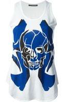 Alexander McQueen Skull Print Tank Top - Lyst