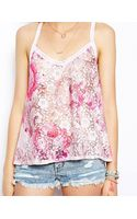 Asos Cami in Printed Lace - Lyst