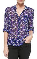 Diane von Furstenberg Lorelei Printed Silk Blouse - Lyst