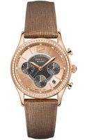 Breil Milano Womens Chronograph Brown Saffiano Leather Strap Watch 37mm - Lyst