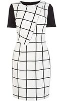 Karen Millen Graphic Check Dress - Lyst