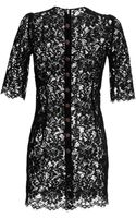 Dolce & Gabbana Black Lace Cocktail Dress - Lyst