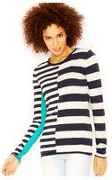 Rachel Rachel Roy Long-sleeve Striped Sweater - Lyst