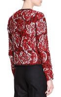 Piazza Sempione Matelasse Floral Textured Cardigan Jacket - Lyst