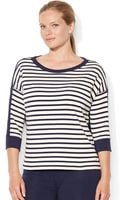 Lauren by Ralph Lauren Plus Nautical French Terry Shirt - Lyst
