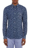 Gant Rugger Waveprint The Hugger Shirt - Lyst