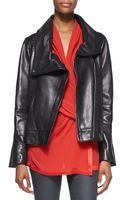 Helmut Lang Shawlcollar Leather Jacket - Lyst