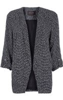 River Island Black Print Relaxed Fit Blazer - Lyst