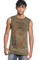 Guess Hart Graphic Muscle Tank - Lyst
