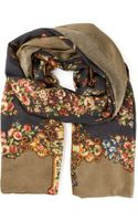 Dolce & Gabbana Floral and Key Print Scarf - Lyst