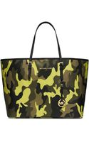 Michael Kors Jet Set Travel Camouflage Saffiano Leather Tote - Lyst