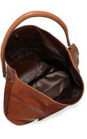 Longchamp 3d Leather Hobo Bag - Lyst