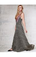 Free People Deep V Checkers Gown - Lyst