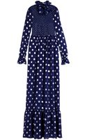 Vilshenko Lara Polka Dot Dress - Lyst