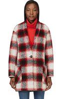 Etoile Isabel Marant Red Plaid Gabrie Coat - Lyst