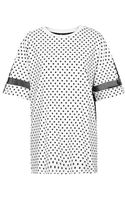 Topshop Womens Polka Dot Boxy Tee by Escapology  Black - Lyst