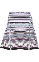 Diane Von Furstenberg Flote Printed Stretch Skirt - Lyst