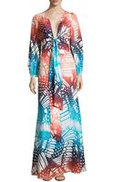 Diane von Furstenberg Long-sleeve Printed Maxi Dress - Lyst