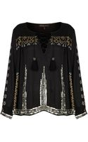 Topshop Embroidered Smock Blouse By Kate Moss  - Lyst