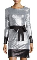 Mark + James By Badgley Mischka Long Sleeve Sequin Dress - Lyst
