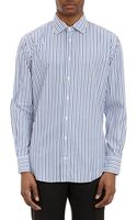 Barneys New York Multistripe Shirt - Lyst