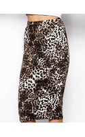 Glamorous Leopard Print Pencil Skirt - Lyst